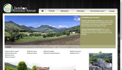 Site internet de Jambon Alimentation Animale