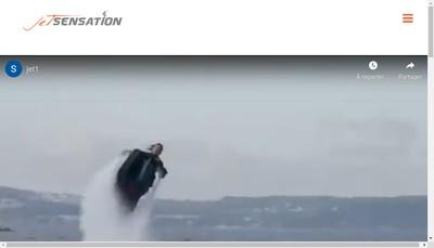 Site internet de Jet Sensation