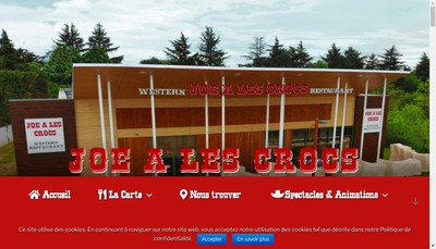 Site internet de Joe a les Crocs