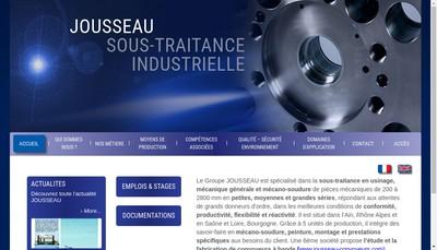 Site internet de Jousseau Industrie Mecanique