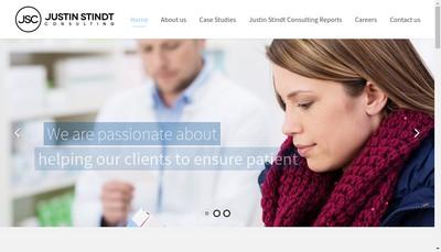 Site internet de Justin Stindt Consulting