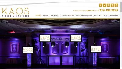 Site internet de Kaos Productions