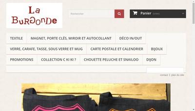 Site internet de La Burgonde