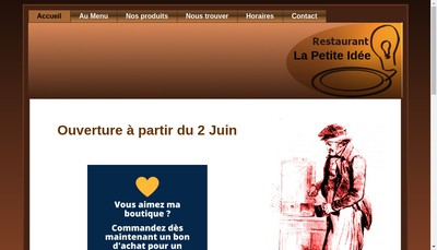 Site internet de La Petite Idee