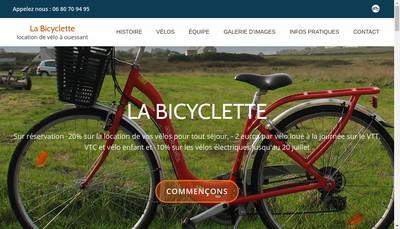 Site internet de La Bicyclette 2