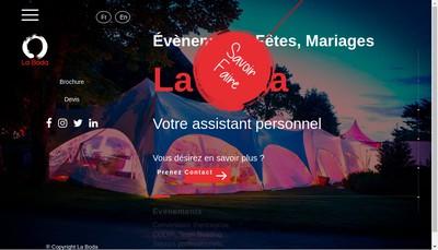 Site internet de La Boda