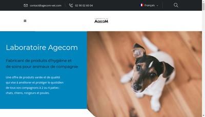 Site internet de Laboratoire Agecom