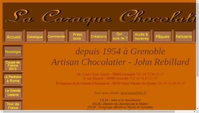 Site internet de La Caraque-Chocolatier
