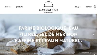Site internet de La Fabrique a Pain