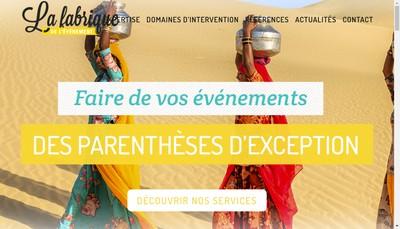 Site internet de La Fabrique de l'Evenement