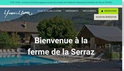 Site internet de La Ferme de la Serraz