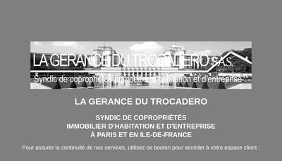 Site internet de La Gerance du Trocadero