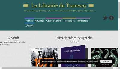 Site internet de La Librairie du Tramway