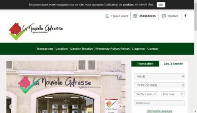 Site internet de La Nouvelle Adresse