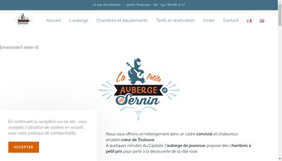 Site internet de La Petite Auberge de Saint-Sernin