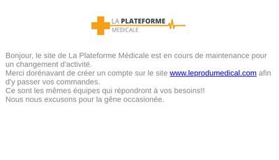Site internet de La Plateforme Medicale