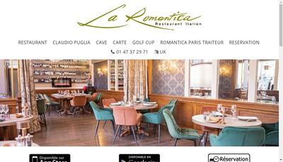 Site internet de La Romantica