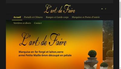 Site internet de L'Art de Faire