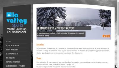 Site internet de La Vattay Sports