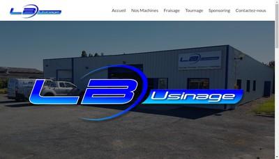 Site internet de Lb Usinage