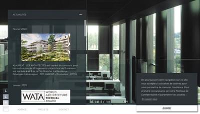 Site internet de Lcr Architectes