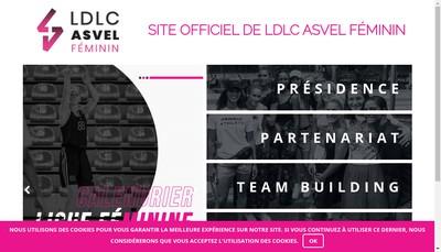 Site internet de Lyon Asvel Feminin