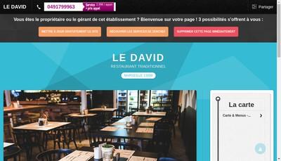 Site internet de Brasserie le David