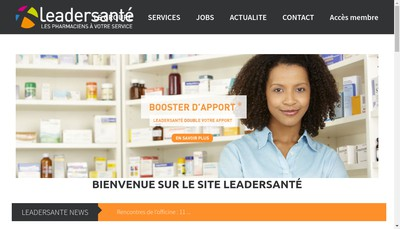 Site internet de Leader Sante Groupe