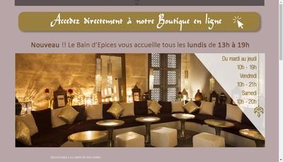 Site internet de Le Bain d'Epices