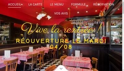 Site internet de Le Bistrot du 7
