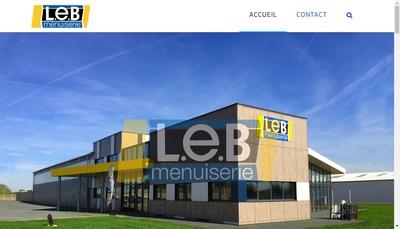 Site internet de LEB Menuiserie