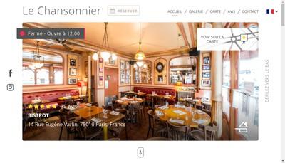 Site internet de Le Chansonnier