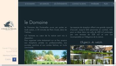 Site internet de Domaine des Fontenelles