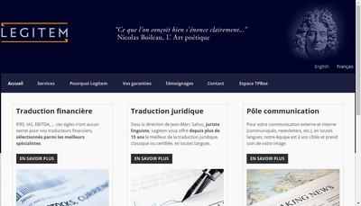 Site internet de LEGITEM