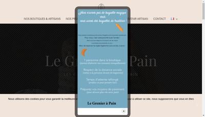Site internet de Le Grenier a Pain Boulogne