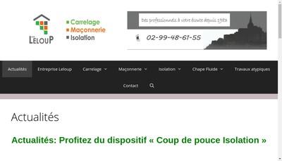 Site internet de Leloup Carrelage