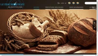 Site internet de Le Macaron Bleu
