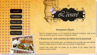 Site internet de Restaurant l'Eouve
