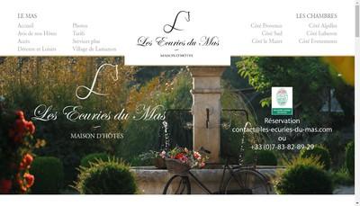 Site internet de Les Ecuries du Mas