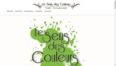 Site internet de Le Sens des Couleurs