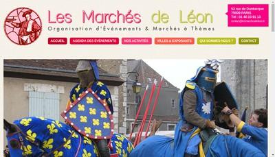 Site internet de Les Marches de Leon
