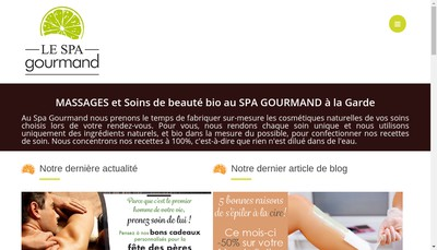 Site internet de Le Spa Gourmand