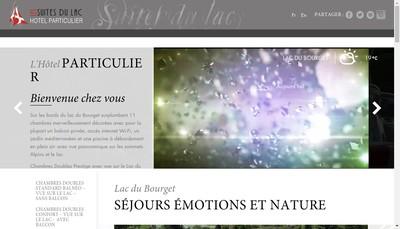 Site internet de Les Suites du Lac