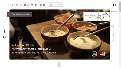Site internet de Le Volant Basque