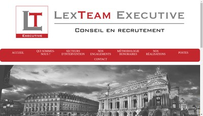Site internet de Lexteam Executive