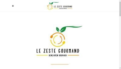 Site internet de SARL le Zeste Gourmand