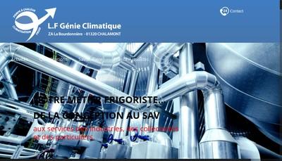 Site internet de Lf Genie Climatique