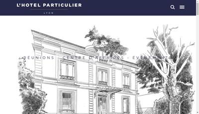 Site internet de L'Hotel Particulier Lyon