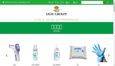Site internet de Ligo Groupe