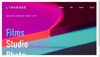 Site internet de L'Insense Films